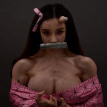 여자 로이더의 네즈코 코스프레